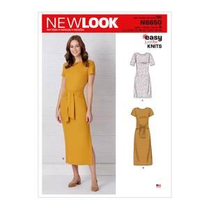 Bilde av New Look N6650 Kjole med erme og lengde variasjoner