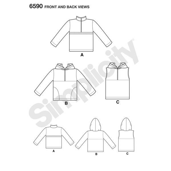 New Look 6590 Hettegenser til barn