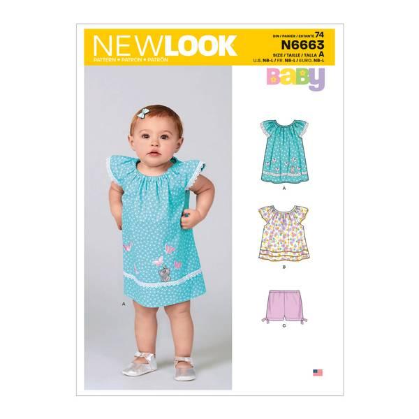New Look N6663 Kjole, topp og bukse