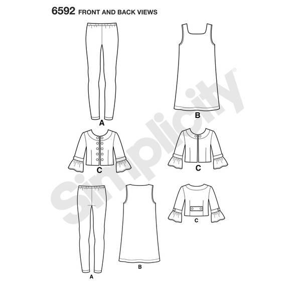 New Look 6592 Tigths, kjole og jakke