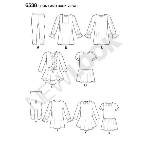 New Look 6538 Kjole og leggings
