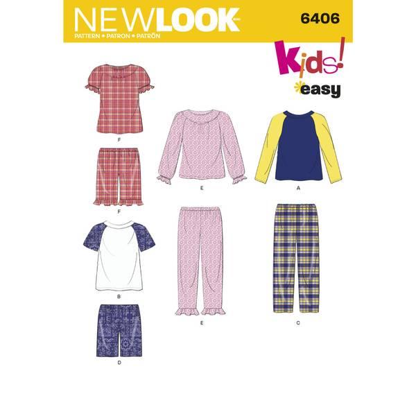 New Look 6406 Bukse, raglan genser og shorts