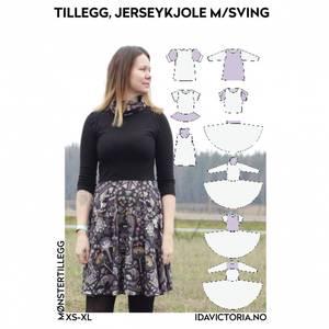 Bilde av Ida Victoria - Mønstertillegg, Jerseykjole med sving