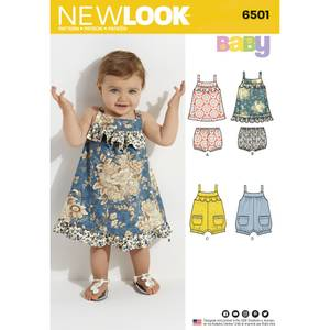 Bilde av New Look 6501 Bloomer, kjole og shorts