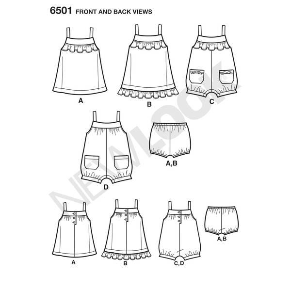 New Look 6501 Bloomer, kjole og shorts
