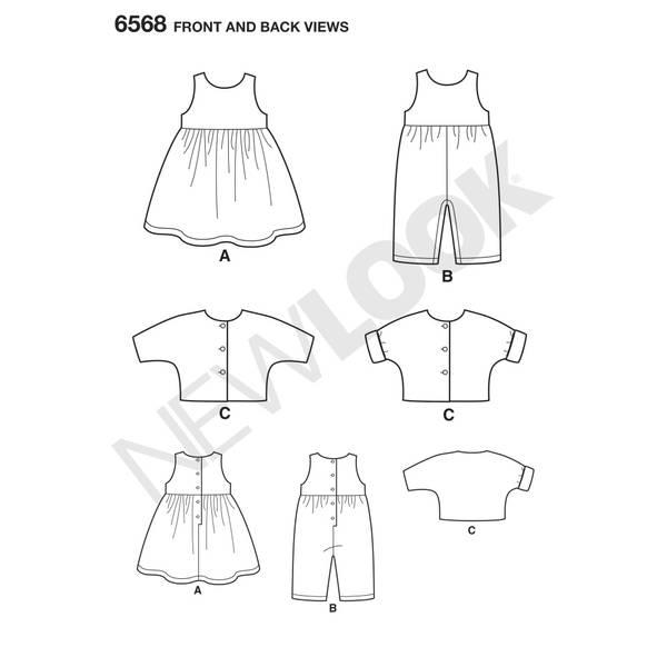 New Look 6568 Kjole, jakke og overall