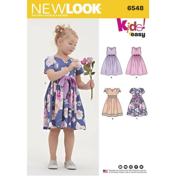 New Look 6548 Kjole med puff ermer
