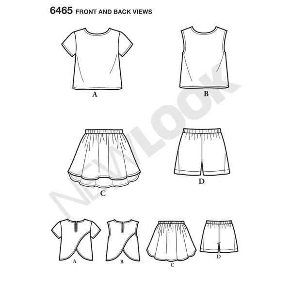 New Look 6465 Kjole. T - skjorte, shorts
