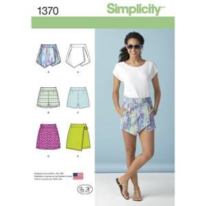 Bilde av Simplicity 1370 Skjørt og shorts