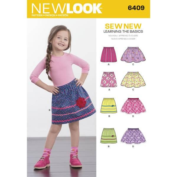 New Look 6409 Skjørt til barn