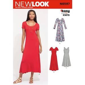 Bilde av New Look N6597 Lang kjole i ulike varianter