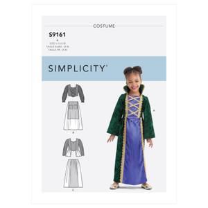 Bilde av Simplicity S9161 Kostyme heks til barn