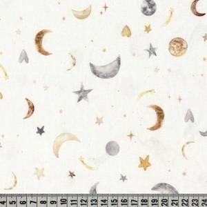 Bilde av Jersey akvarell ,stjerner og planeter grå, brun og oker.