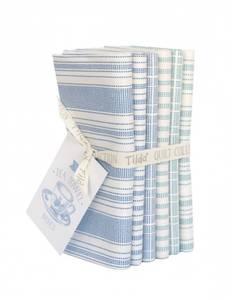 Bilde av Tilda Tea Towel Basic Fat Quarter Bundle, blue/teal