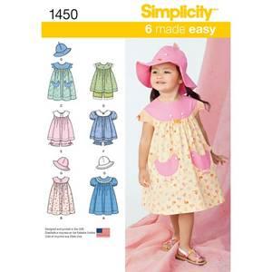 Bilde av Simplicity 1450 kjole og hatt sett