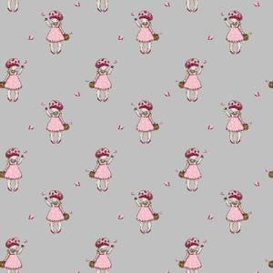 Bilde av Bomull jordbærpike grå