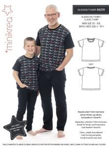 Bilde av Minikrea 66210 Klassisk T-shirt, mann og gutt