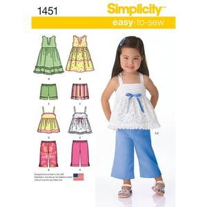 Bilde av Simplicity 1451 kjole, overdel og bukse sett
