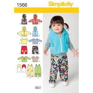 Bilde av Simplicity 1566 Romper, jakke, vest, tsjorte, bukse og hatt