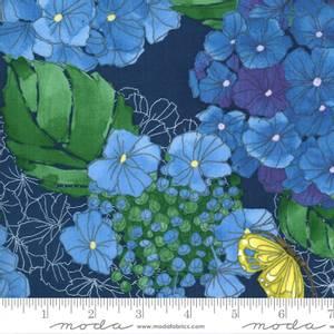 Bilde av Moda Cottage Bleu - Hydrangeas Floral Midnight