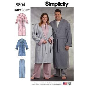 Bilde av Simplicity 8804 Slåbrok og pysjamasbukse