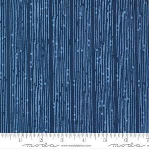 Bilde av Moda Cottage Bleu - Broken Lines Stripe Midnight