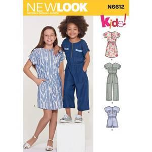 Bilde av New Look N6612 Jumpsuit, romper og kjole