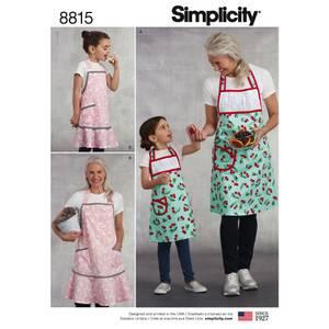 Bilde av Simplicity 8815 Forkle til barn og dame