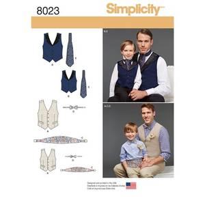 Bilde av Simplicity 8023 Vest og tilbehør til mann og barn
