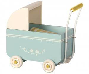 Bilde av Maileg - MY dukkevogn, blå