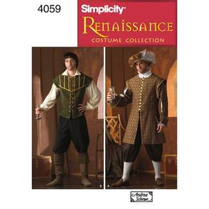 Bilde av Simplicity 4059 Kostyme renessansen mann