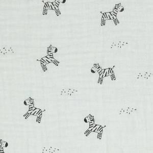 Bilde av Double gauze små sebra hvit
