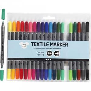 Bilde av Tekstil tusj standardfarger 20stk