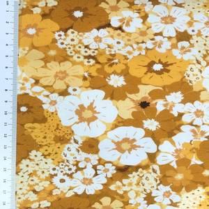Bilde av Jersey - retro blomster i gylne nyanser