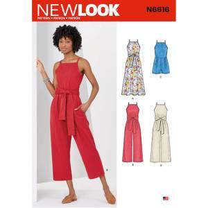 Bilde av New Look N6616 Jumpsuit, playsuit og kjole