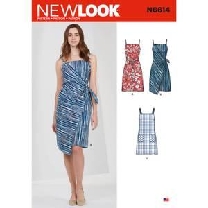 Bilde av New Look N6614 Kjole med knyting eller lommer