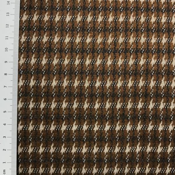 Jacquard - hundetannsmønster i rust, sort og hvit