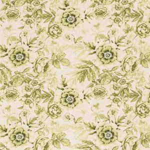 Bilde av Viskose/lin - grønne blomster på natur bakgrunn