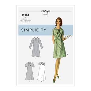 Bilde av Simplicity S9104 Vintage kjole