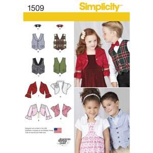 Bilde av Simplicity 1509 Vest, bolero og sløyfe til barn