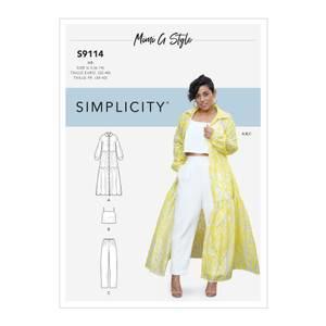 Bilde av Simplicity S9114 Kjole, topp og bukse