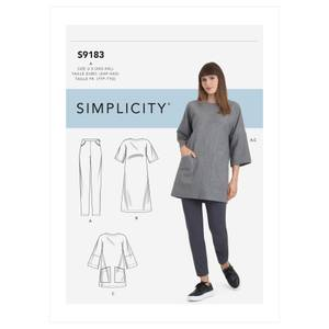 Bilde av Simplicity S9183 Kjole, tunika og bukse