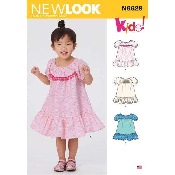 New Look N6629 Kjole med rysjer