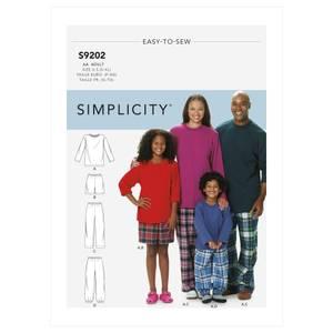 Bilde av Simplicity S9202 Pysjamas til barn og voksen
