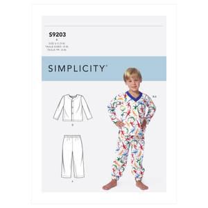 Bilde av Simplicity S9203 Pysjamas til barn