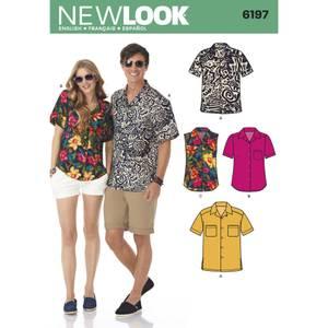 Bilde av New Look 6197 Skjorte til dame og mann