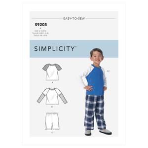 Bilde av Simplicity S9205 Pysjamas til barn