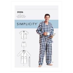 Bilde av Simplicity S9206 Slåbrok og pysjamas