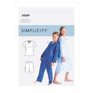 Bilde av Simplicity S9209 Pysjamas og nattkjole til barn