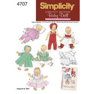 Bilde av Simplicity 4707 Vintage dukkeklær